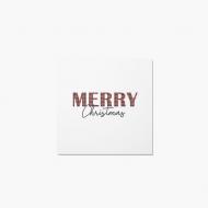 Fotopřání Merry Christmas, 14x14 cm