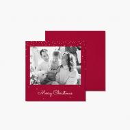 Fotopřání Christmas in red, 14x14 cm